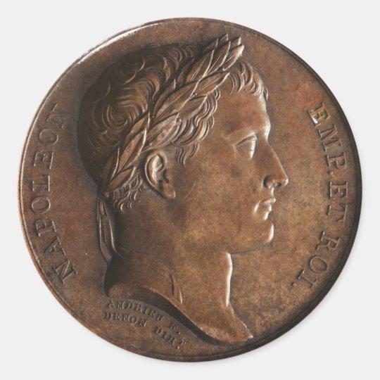 Napoleon Bonaparte Medal Classic Round Sticker