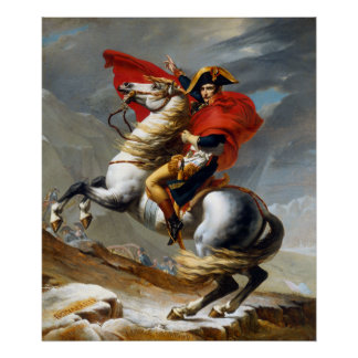 Napoleon Bonaparte Painting by Jacques-Louis David Poster
