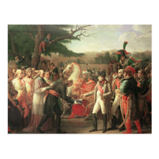 Napoleon Bonaparte  Receiving the Keys Postcard