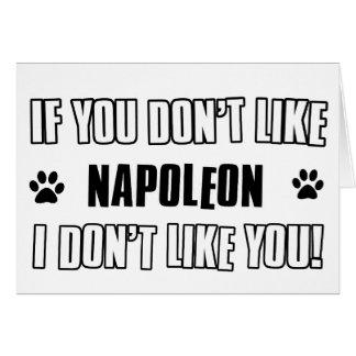 Napoleon cat design card
