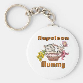Napoleon Cat Mom Keychain