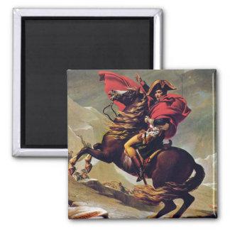 Napoléon croisant le St Bernard Magnet Carré