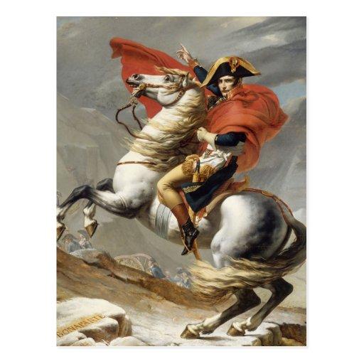 Napoléon croisant les Alpes - Jacques-Louis David Cartes Postales