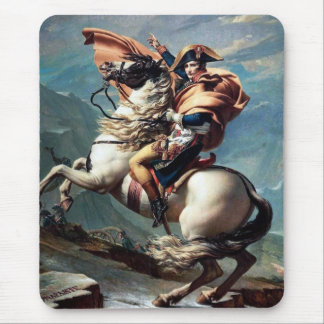 """Napoleon Crossing the Alps""-1800 by J.L.David pad Mouse Pad"