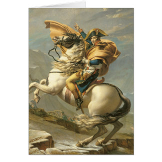 Napoleon  Crossing the Alps at the St Bernard Card