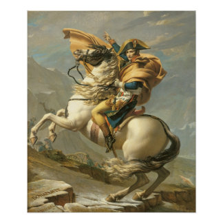 Napoleon  Crossing the Alps at the St Bernard Poster