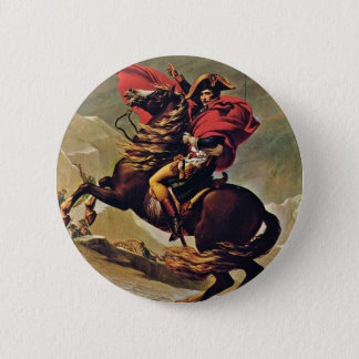 Napoleon Crossing The Alps,  By David Jacques-Loui 2 Inch Round Button