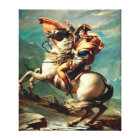 Napoleon Crossing the Alps by Jacques-Louis David Canvas Print