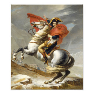 Napoleon Crossing the Alps by Jacques Louis David Photographic Print