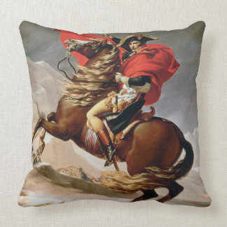 Napoleon Crossing the Alps, c.1800 (oil on canvas) Throw Pillow