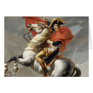 Napoleon Crossing the Alps - Jacques-Louis David Card