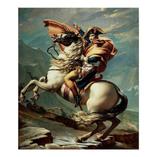 Napoleon Crossing the Alps Poster