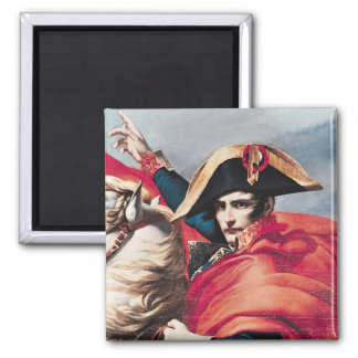 Napoleon  Crossing the Alps Square Magnet