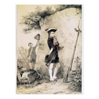 Napoleon I  at Military School Postcard