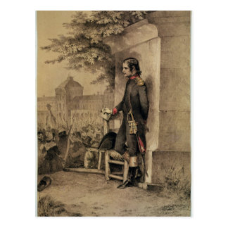 Napoleon I at the Siege of the Tuileries Postcard