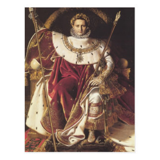 Napoleon I  on his Imperial Throne Postcard