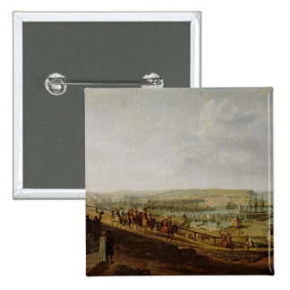 Napoleon I  Visiting the Camp at Boulogne 2 Inch Square Button