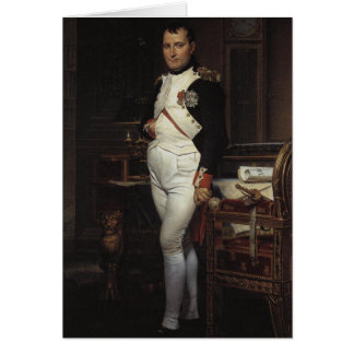 Napoleon in his Study by Jacques Louis David Card