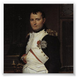 Napoleon in his Study by Jacques Louis David Poster
