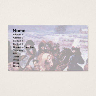 Napoleon On The Battlefield Of-Eylau (Detail) Business Card