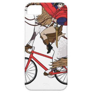 Napoleon Riding Horse Who's Riding A Bike iPhone 5 Case