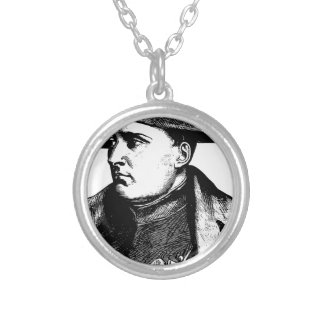 Napoleon Silhouette Silver Plated Necklace