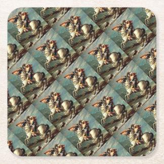 napoleon square paper coaster