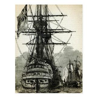 Napoleon surrendering to Captain Maitland Postcard