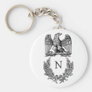 Napoleon Symbol Basic Round Button Keychain