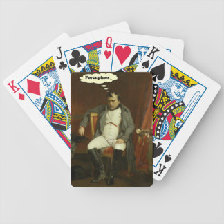 Napoleon Thinks About Porcupines Bicycle Playing Cards