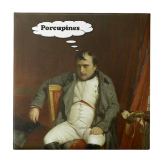 Napoleon Thinks About Porcupines Tile