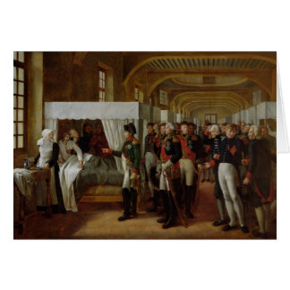 Napoleon visiting the Infirmary of Invalides Card