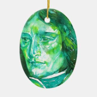 napoleon - watercolor portrait ceramic ornament