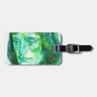 napoleon - watercolor portrait luggage tag