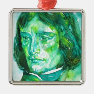 napoleon - watercolor portrait metal ornament