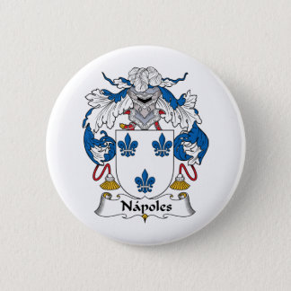 Napoles Family Crest 2 Inch Round Button
