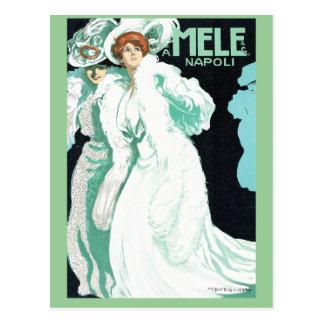 Napoli, E. & A. Mele & Ci. Vintage Art Nouveau Postcard