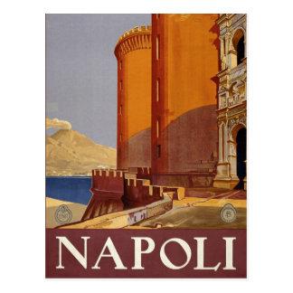 Napoli Italy vintage style postcard