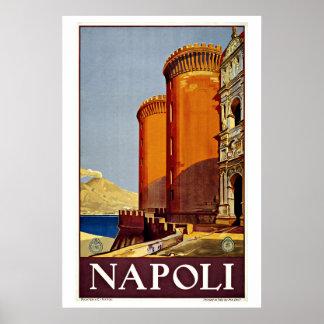 Napoli Naples Italy Vintage Travel Poster