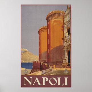 Napoli (Naples) vintage travel poster