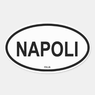 Napoli Oval Sticker