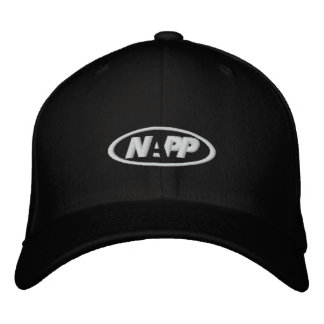 NAPP Cap in Black Embroidered Hat
