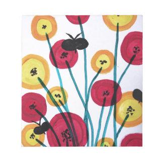 Nappen blomster med sommerfugler notepads
