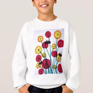 Nappen blomster med sommerfugler sweatshirt