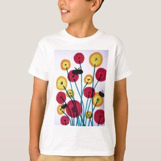 Nappen blomster med sommerfugler T-Shirt