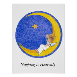 Napping is Heavenly Poster