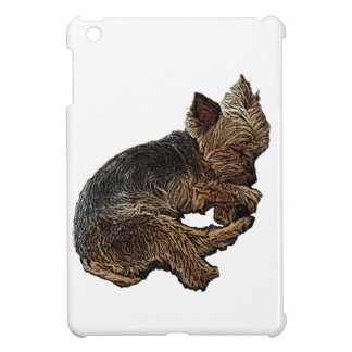 Napping Yorkie iPad Mini Cases