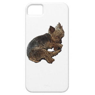 Napping Yorkie iPhone 5 Cases