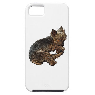 Napping Yorkie iPhone 5 Covers