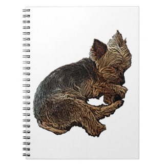Napping Yorkie Notebook